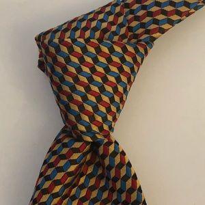 Vintage Lilly Dache Wide Basketweave Silk Tie